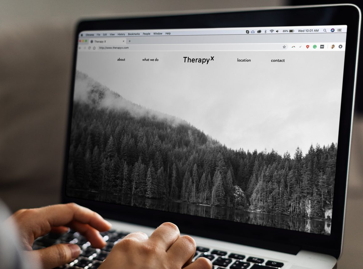 Therapy X website mockup
