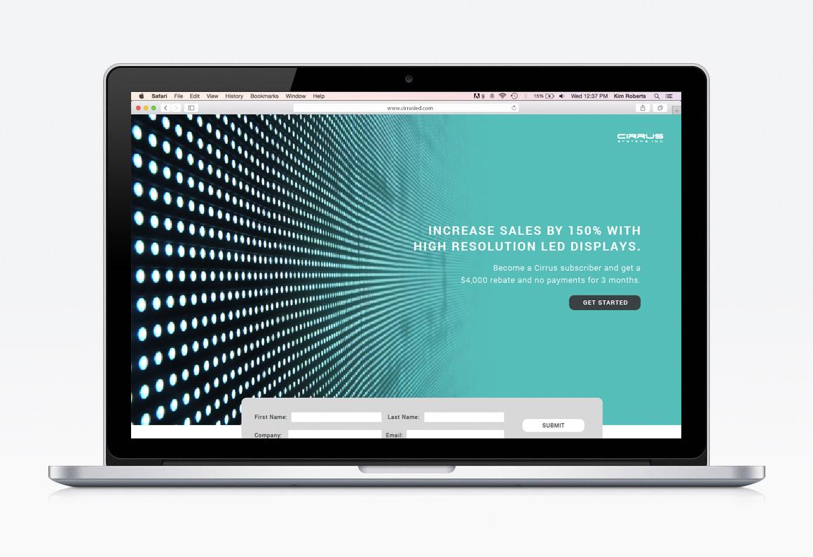 Cirrus LED website mockup
