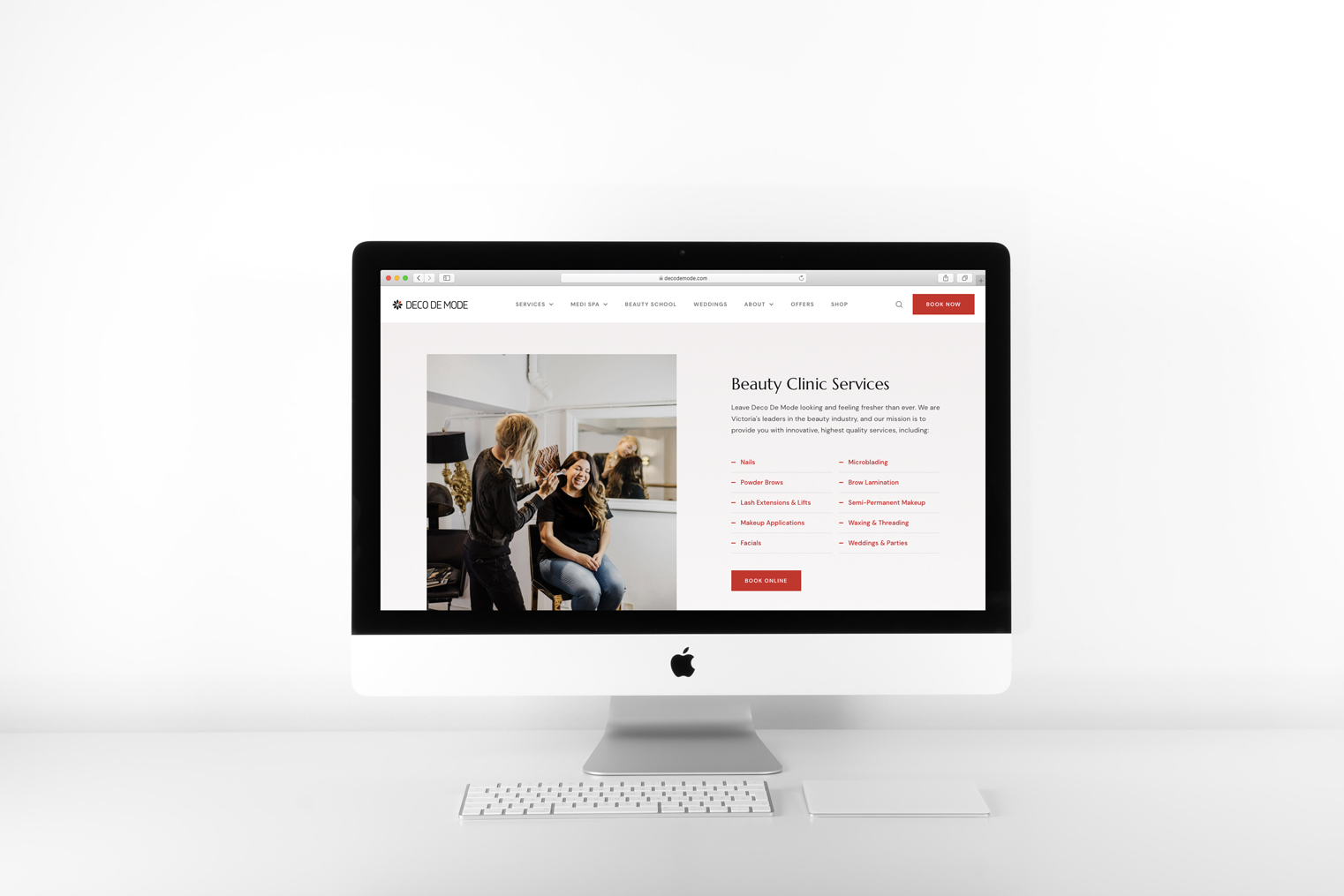 Deco De Mode Website Mockup